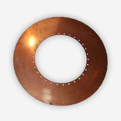 copper cooled brake plate